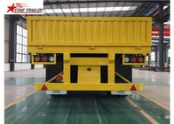 30-60 Tons Front Load Trailer Drop Side Wall And Checked Steel Floor