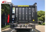 3 Axles 40ft Tipping Skeletal Container Trailer Chassis For Container Dump Discharge