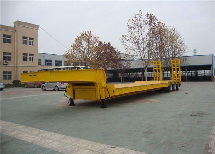 3 Lines Lowboy Semi Trailer 6 Axles 40-120 Tons With Anti Corrosive Primer Coating