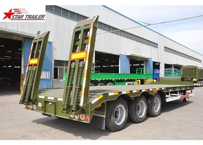 High Capacity Low Loader Semi Trailer, Steel Heavy Duty Low Bed Trailers