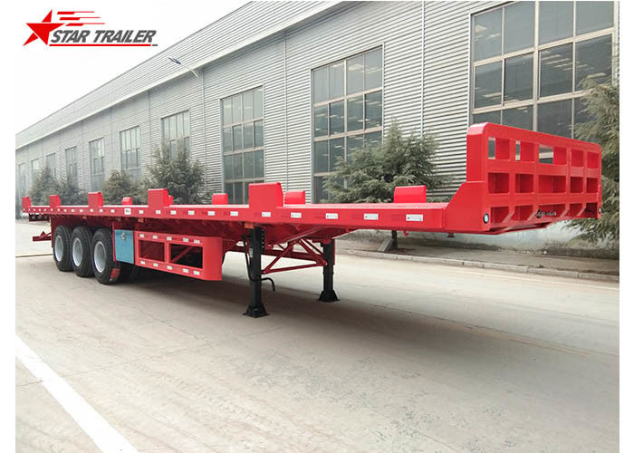 Heavy Equipment Transport Drop Deck Semi Trailer Manually Operated Or Hydraulic Type