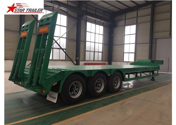 50T Payload Equipment Hauling Trailers , Custom Colors Heavy Equipment Hauling Trailers