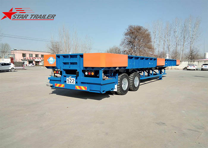 Transporting Containers Extendable Flatbed Trailer Filled With Liquid Bath Tub